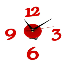 Design Home Decor Wall Clock by Compare Prices On Red Clock Wall Online Shopping Buy Low Price