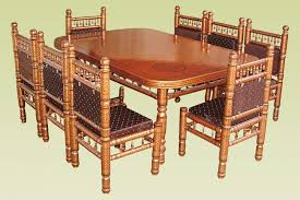 Jali Dining Table And Chairs Wooden Dining Table Buy In Vadodara