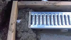 how to install a patio drain youtube backyard ideas