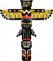indian totem pole vector illustration stock vector art 121146475