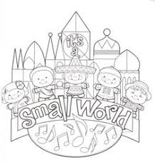 Disney World Coloring Pages Its A Small World Clip Art Fantasyland Disney World Coloring Pages