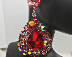 fashion jewelry red necklace images Red earrings etsy jpg