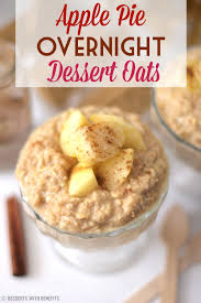 healthy apple overnight dessert oats recipe gluten free vegan