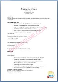 chef resume sample examples sous chef jobs free sushi chef resume