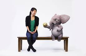 magic bench puts you in the picture with animated figures