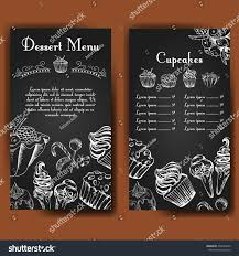 vector poster handdrawn desserts delicious food stock vector