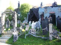 halloween decorations scary headless man and woman halloween