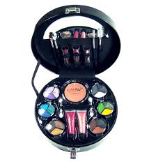 ladycosmetic multi color makeup set and clamshell makeup case cc m223