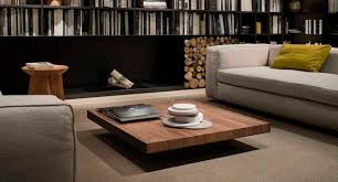 Walnut Coffee Table Contemporary Coffee Table Metal Walnut Square Deck Lema Home