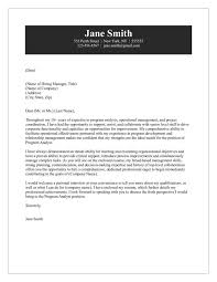 cover letter for analyst business analyst cover letter examples