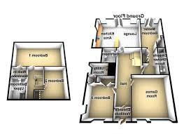 2 bed house floor plans uk