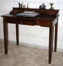 B O Schreibtisch Holz Sekretär Konsolentisch Schreibtisch Holz Massiv Wenge Braun