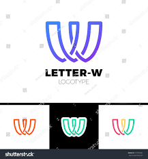 volkswagen logo vector creative modern unique minimal connected artistic stock vector