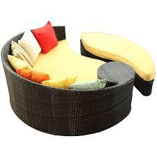 Orange Wicker Patio Furniture - amazon com lexmod taiji outdoor wicker patio daybed with ottoman