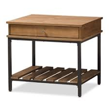 Wood And Metal End Table End Tables Living Room Furniture Affordable Modern Furniture