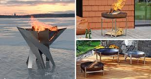 Modern Firepit These Outdoor Pits Were Inspired By Nordic Design Contemporist