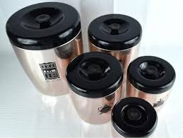 canisters for kitchen counter vintage west bend canister set 5 kitchen counter canisters