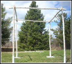 chuppah poles winter sale price white birch wedding chuppah set with stands