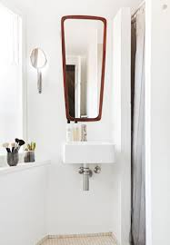 Mirror In The Bathroom by Relaxing Scandinavian Loft With Textural Touches Digsdigs
