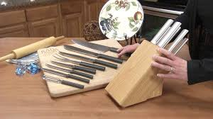 kitchen knife set colossal oak block set radacutlery com youtube