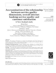 an examination of the relationship between service quality