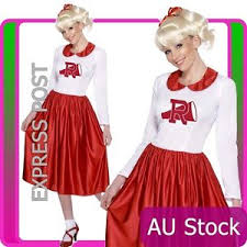 50s grease sandy costume red rydell high cheerleader 1950s fancy