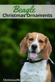 beagle ornaments mosaic