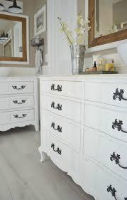 Bathroom Vanity Shelf by Review Of My Chalk Painted Bathroom Vanities