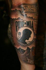 pow mia military sleeve tattoo design in 2017 real photo