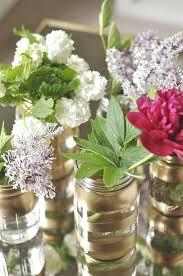 jar flowers diy gold jar flower vases your homebased