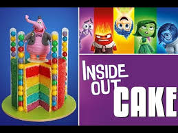 inside out cakes inside out cake disney inside out rainbow cake my cupcake