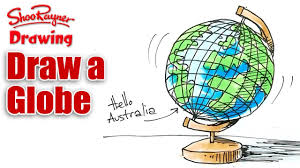 globe how to draw a globe real easy youtube