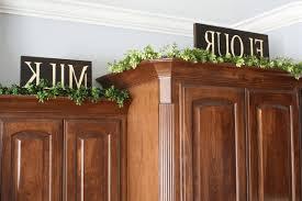 greenery above kitchen cabinets kitchen decoration