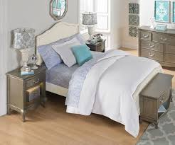 Antique Finish Bedroom Furniture Kensington White Finish Size Panel Bed 20015 Ne