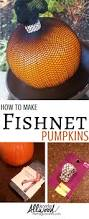 fishnet pumpkins are the easiest way to decorate a pumpkin