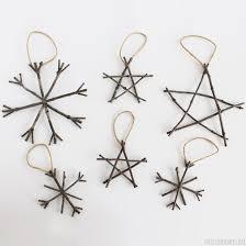 deer wood slice ornaments rustic twig tree