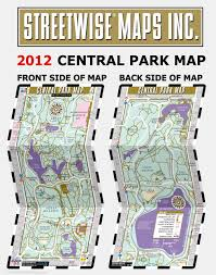 Central Park Zoo Map Streetwise Central Park Map Laminated Pocket Map Of Central Park