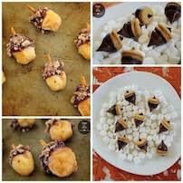 festive acorn treats dinner 4 two