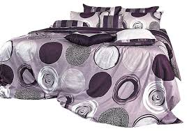 Duvet Covers King Contemporary Modern Purple Gray Circle Pattern Duvet Cover Set Contemporary