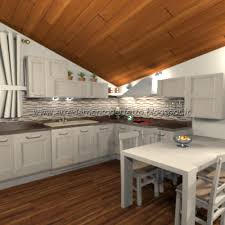 arredo mansarda moderno la cucina soggiorno in mansarda in stile classico moderno