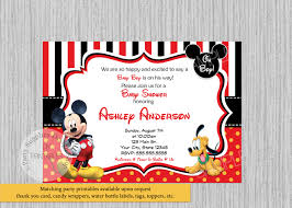 Mickey Mouse Invitation Cards Printable Disney Mickey Mouse Baby Shower Invitations Mickey Baby
