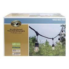 smartyard led string lights hton bay string lights outdoor lighting the home depot