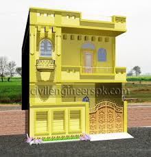 21 5 u0027 x 45 5 u0027 house design civil engineers pk