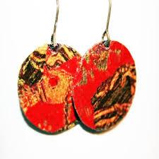 decoupage earrings decoupage earrings jewelry journal