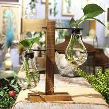 Vase Table L Vintage Style Glass Tabletop Plant Vase Ambition