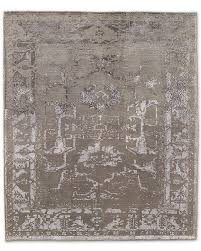 tana rug gray traditional rugs light grey whitefloral pattern wool