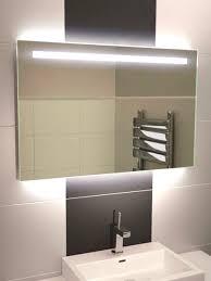 Backlit Bathroom Mirror by Illuminated Bathroom Mirrors Led Astonishing Backlit Mirror Modren