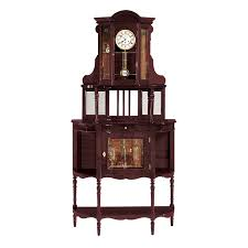 Antique Curio Cabinet With Clock Grandfather Curio Clock Altobelantonio Com