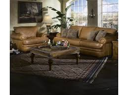 Klaussner Furniture Quality Klaussner Montezuma Casual Style Leather Sofa With Bun Feet
