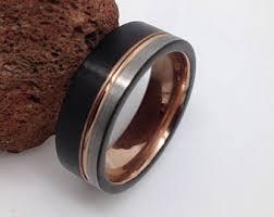 tungsten carbide wedding bands for tungsten carbide etsy